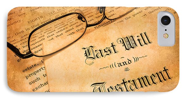 Last Will And Testament Phone Case by Lane Erickson