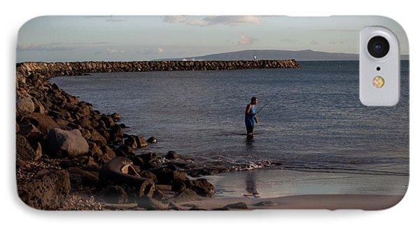 Late Afternoon Angler - Maalaea-maui Phone Case by Paulette B Wright