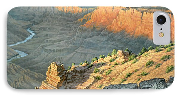 Late Afternoon-desert View IPhone Case by Paul Krapf