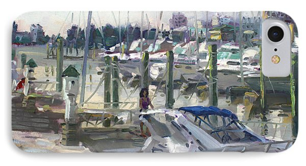 Late Afternoon In Virginia Harbor IPhone Case by Ylli Haruni