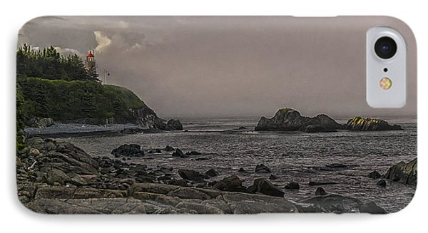 Late Afternoon Sun On West Quoddy Head Lighthouse IPhone Case by Marty Saccone