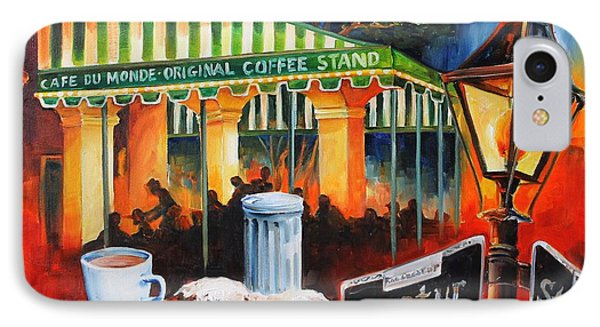 Late At Cafe Du Monde Phone Case by Diane Millsap