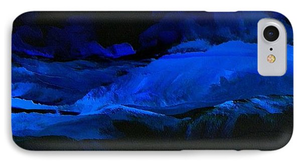 IPhone Case featuring the painting Late Night High Tide by Linda Bailey