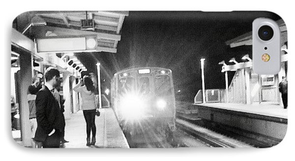 Late Night On The Red Line IPhone Case by Jill Tuinier