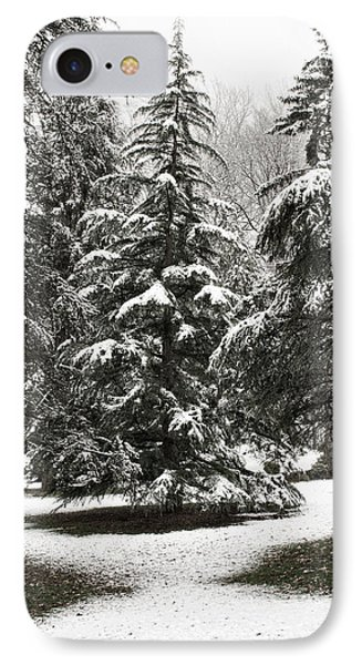 Late Season Snow At The Park IPhone Case by Gary Slawsky