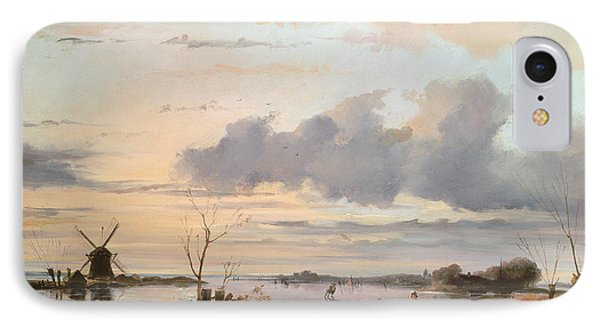 Late Winter In Holland IPhone Case by Nicholas Jan Roosenboom