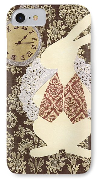 Late? With The White Rabbit IPhone Case by Savannah Bertozzi