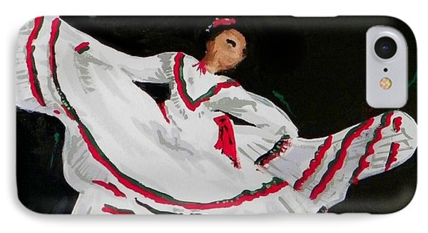 IPhone Case featuring the painting Latin Dancer by Marisela Mungia