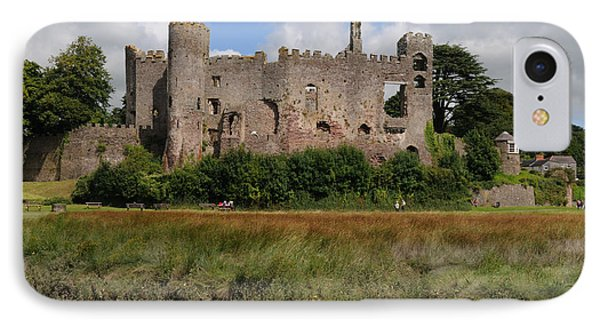 Laugharne Castle IPhone Case by Jeremy Voisey