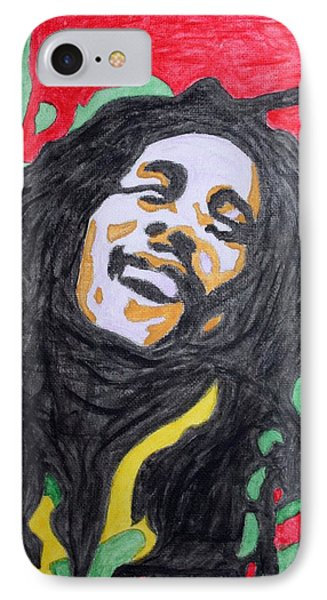 IPhone Case featuring the painting Happy Bob Marley  by Stormm Bradshaw
