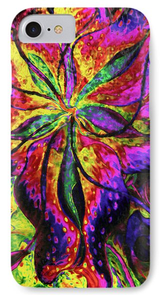 Laughing Lily Abstract Expressionism IPhone Case