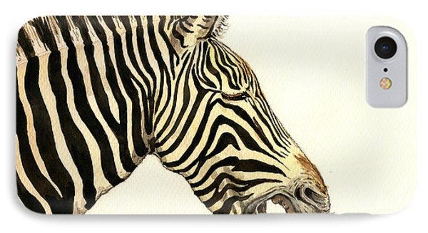 Laughing Zebra IPhone Case by Juan  Bosco