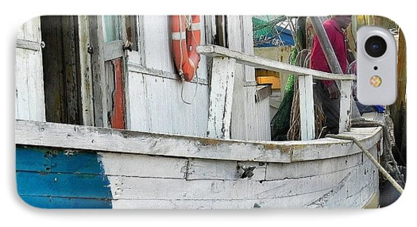 IPhone Case featuring the photograph Laughs On A Shrimpboat by Patricia Greer