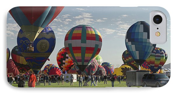 Launch At  The Albuquerque Hot Air IPhone Case by William Sutton
