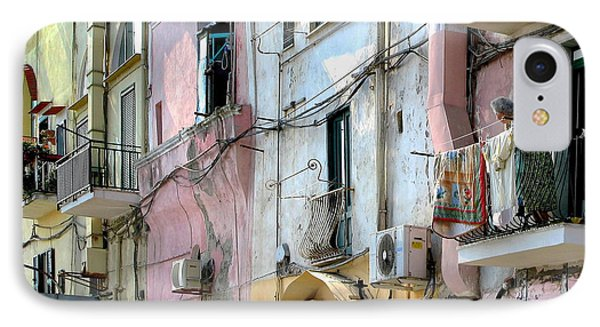 Laundry Day In Procida IPhone Case by Jennie Breeze