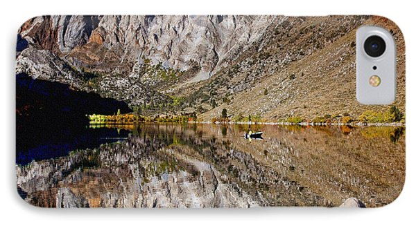 Laural Mountain Convict Lake California Phone Case by Bob and Nadine Johnston