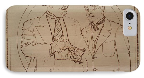 Laurel And Hardy - Thicker Than Water Phone Case by Sean Connolly