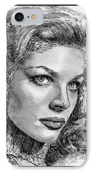 Lauren Bacall Phone Case by J McCombie