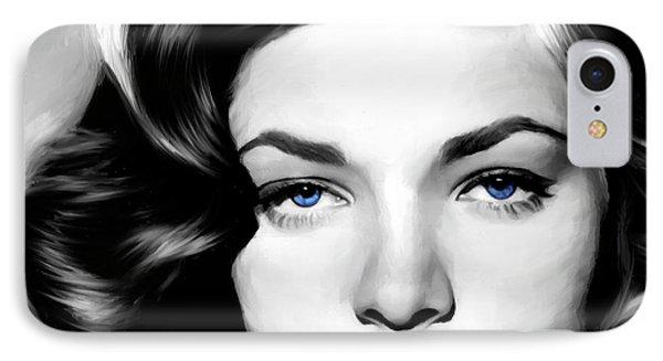 Lauren Bacall Large Size Portrait IPhone Case