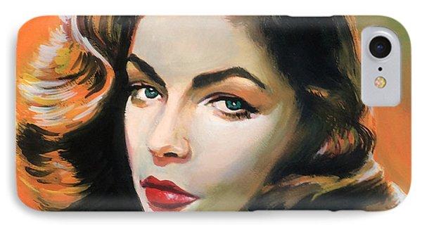 Lauren Bacall IPhone Case by Robert Korhonen