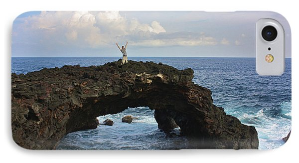 Lava Sea Arch In Hawaii IPhone Case by Venetia Featherstone-Witty