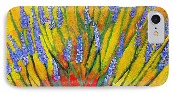 IPhone Case featuring the painting Lavender Afternoon by Angela Annas