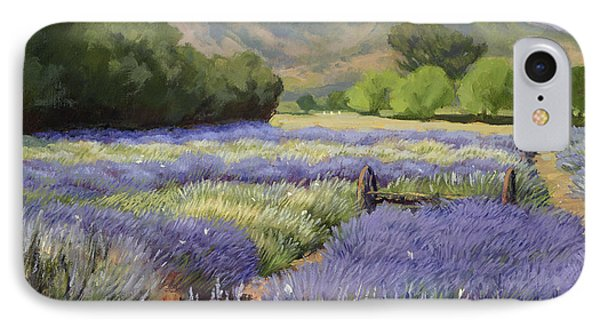 Lavender Blue IPhone Case by Jane Thorpe