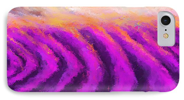 Lavender Delight - Lavender Field Impressionist IPhone Case