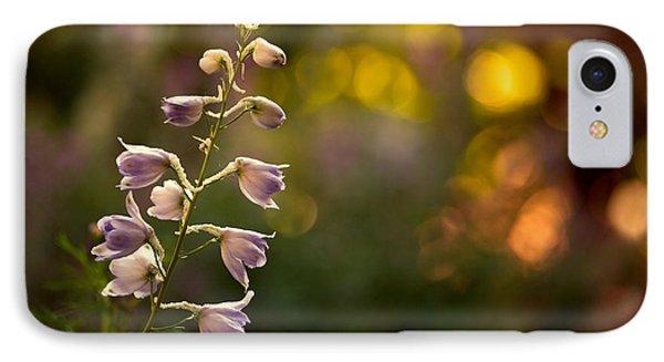 Lavender Delphinium Phone Case by Bonnie Bruno