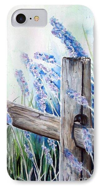 Lavender Fenced Garden  Phone Case by Kay Lodahl