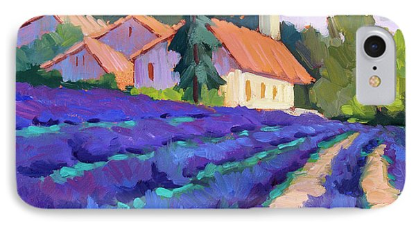 Lavender Field In St. Columne IPhone Case