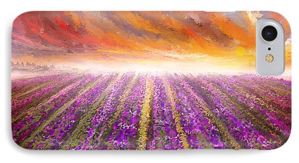 Lavender Field Painting - Impressionist IPhone Case
