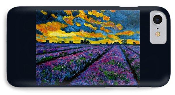 Lavender Fields At Dusk IPhone Case by Julie Brugh Riffey