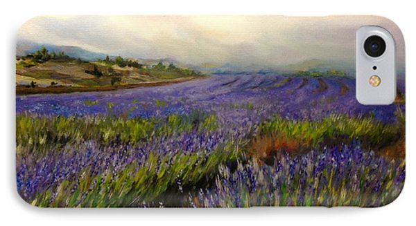 IPhone Case featuring the painting Lavender In Oil by Lori Ippolito