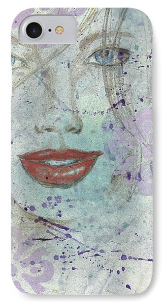 Lavender In Red Lipstick IPhone Case