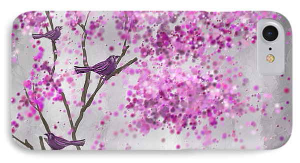 Lavender Leisure- Lavender Wall Art IPhone Case by Lourry Legarde
