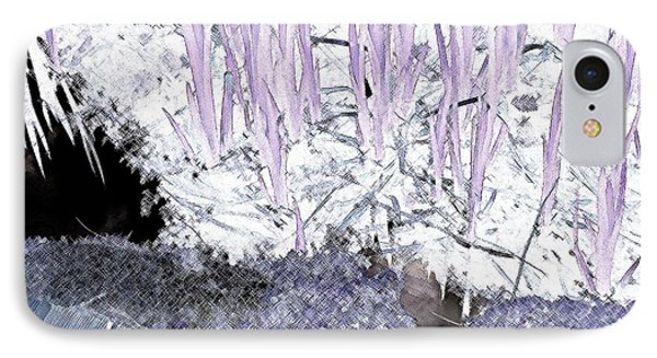 IPhone Case featuring the photograph Lavender Pond Abstract by Ann Johndro-Collins