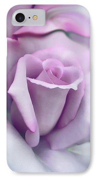 Lavender Rose Flower Portrait Phone Case by Jennie Marie Schell