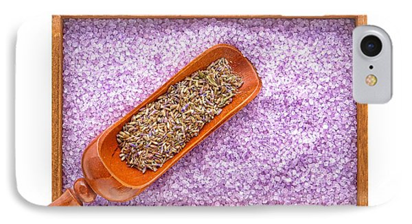 Lavender Seeds And Bath Salts Phone Case by Olivier Le Queinec