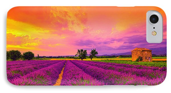 Lavender Sunset IPhone Case by Midori Chan
