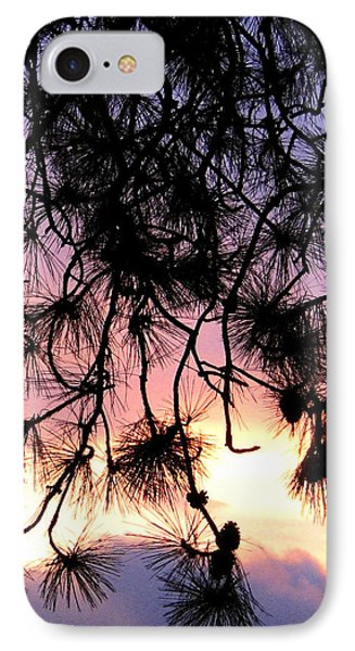 Lavender Sunset Painting Phone Case by Will Borden
