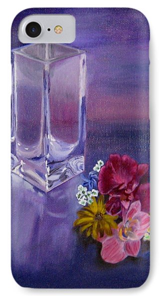IPhone Case featuring the painting Lavender Vase by LaVonne Hand