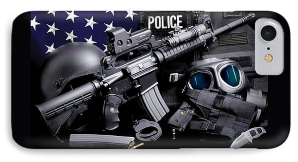 Law Enforcement Tactical Police Phone Case by Gary Yost
