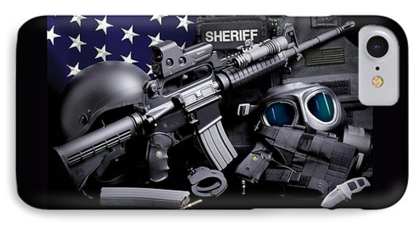 Law Enforcement Tactical Sheriff Phone Case by Gary Yost