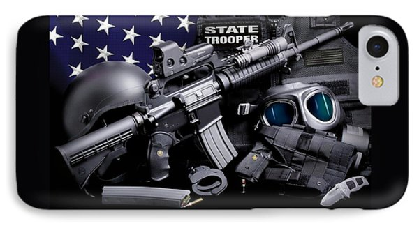 Law Enforcement Tactical Trooper Phone Case by Gary Yost