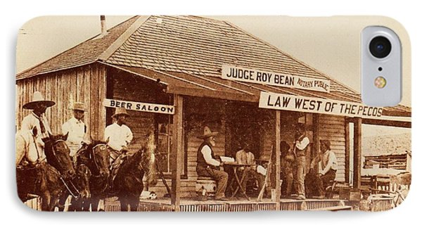 Law West Of The Pecos IPhone Case by Pg Reproductions