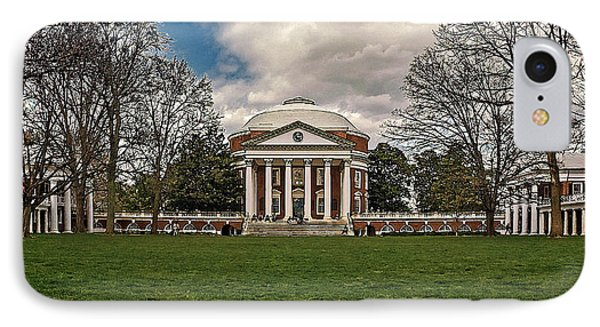 Lawn And Rotunda At University Of Virginia IPhone Case by Jerry Gammon