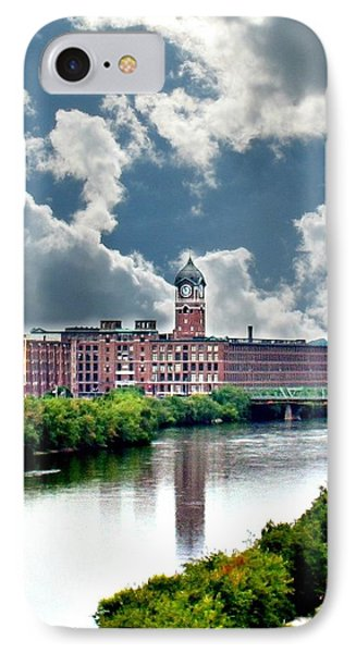 Lawrence Ma Historic Clock Tower IPhone Case by Barbara S Nickerson