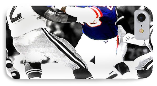 Lawrence Taylor Out Of My Way IPhone Case by Brian Reaves