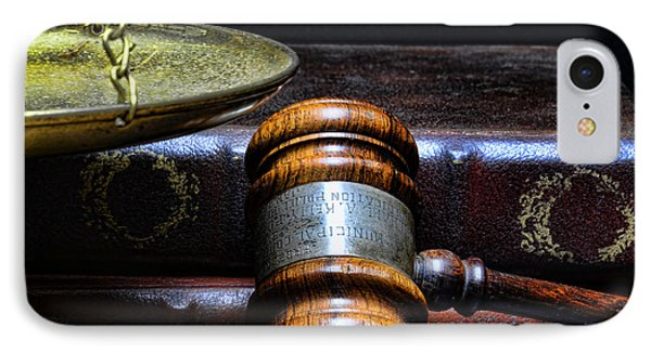 Lawyer - Books Of Justice IPhone Case by Paul Ward